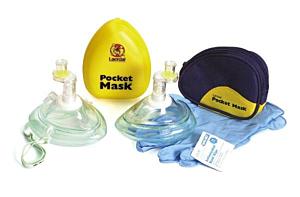 Laerdal Pocketmask m ventil i blå mjukväska