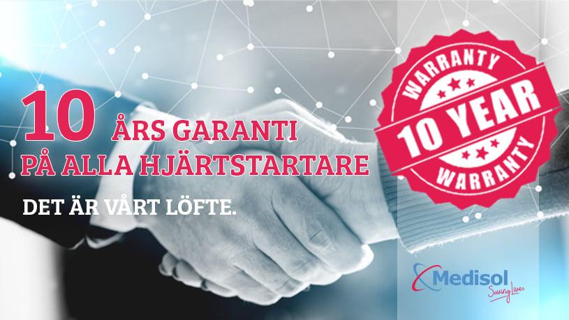 Från och med nu 10 års garanti på alla hjärtstartare!